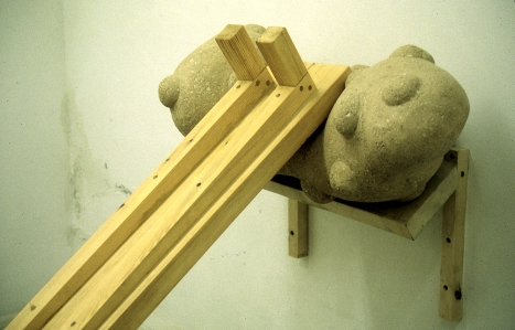 Shelved and Table, detail, 1995