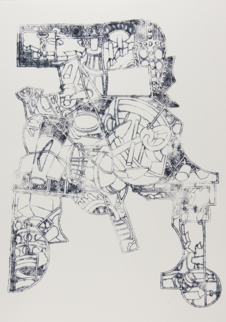 Engine Chair, ink on paper