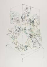 Vitrine Armature, ink on paper