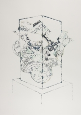 Vitrine Departure, ink on paper