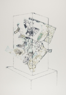 Vitrine Pirouette, ink on paper