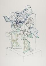 Vitrine Totem, ink on paper