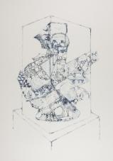 Vitrine Vessel, ink on paper