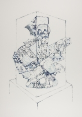 Vitrine Vessel, ink on paper