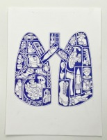 Shaped Narrative Lungs 2017 Gary Clough Ink on Paper
